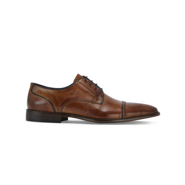 REMUS UOMO BONUCI OXFORD LEATHER SHOE 02158 - TAN