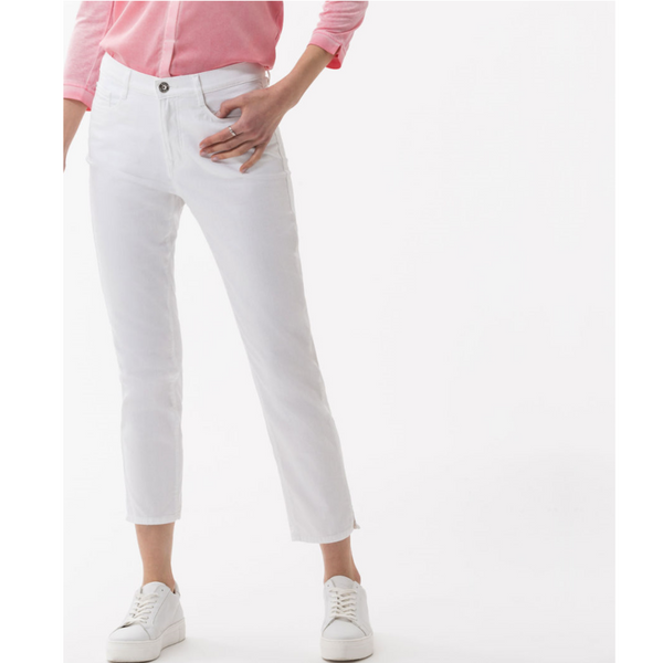Brax Caro Crop Jean in Bright White 72-6107