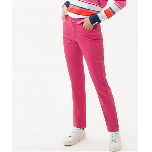 Brax Mary City Sport Premium five-pocket trousers in Pink 72-1557