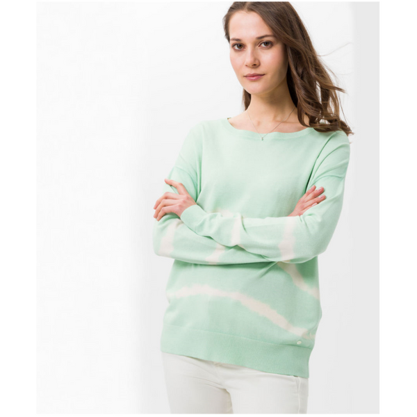 Brax Lisa Mint Tie Dye Knit 34-5114