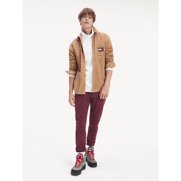 Tommy Jeans Stretch Organic Cotton Slim Scanton Chino DM0DM06518 - Burgundy