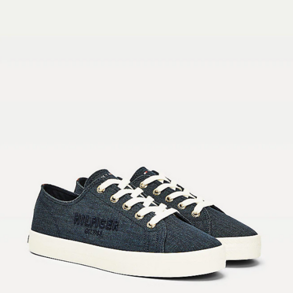 Tommy Hilfiger LOGO EMBROIDERY LOW-TOP TRAINERS 5123 - Desert Sky