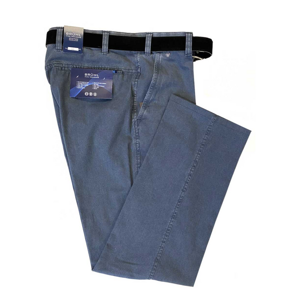 Bruhl Men's Summer Chino Catania B Trousers 184380 - Blue
