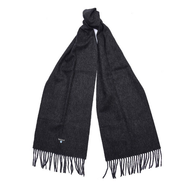 BARBOUR PLAIN LAMBSWOOL SCARF USC0008CH71 - CHARCOAL