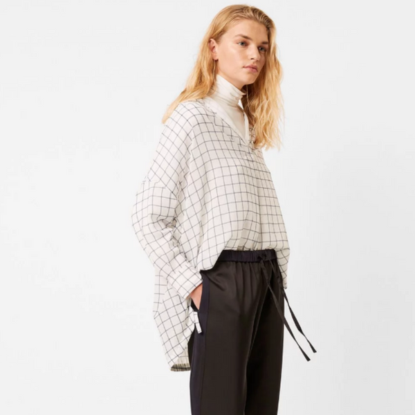 French Connection AOKO AYN CHECK POPOVER SHIRT 72NAC
