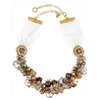 Rosie Fox Dove Agate Star Statement Necklace