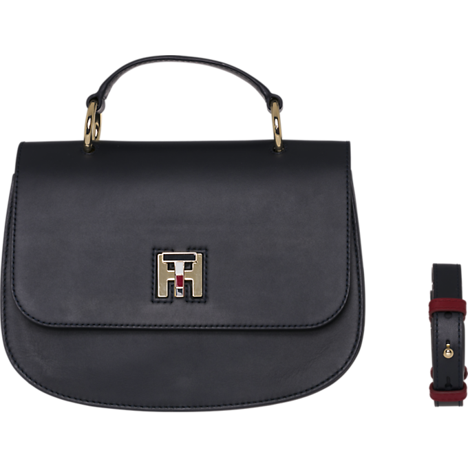 Tommy Hilfiger Leather Twist Crossover Bag 5726