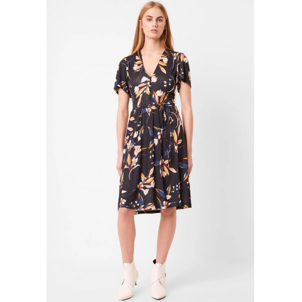 French Connection ELVIA MEADOW BELTED DRESS 71NGN