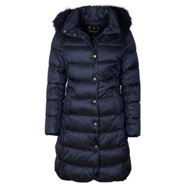 Barbour Earn Quilted Jacket in Navy LQU1212