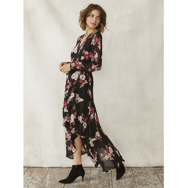 Part Two Viviette Flower Print Wrap Dress 4672