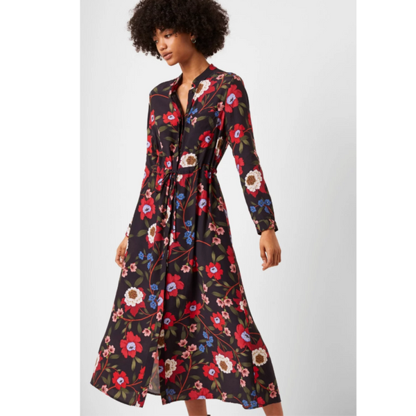 French Connection Eloise Drape Midi Dress 71NEH