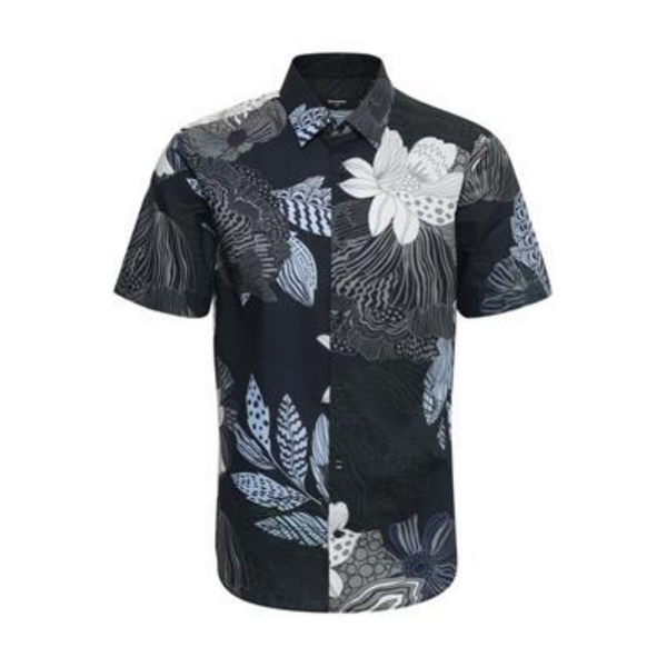 Matinique Robo Artistic Flower Short Sleeved Shirt 30203501