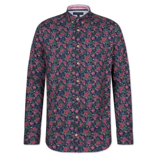Colours And Sons Winter Flower Shirt 91219-330