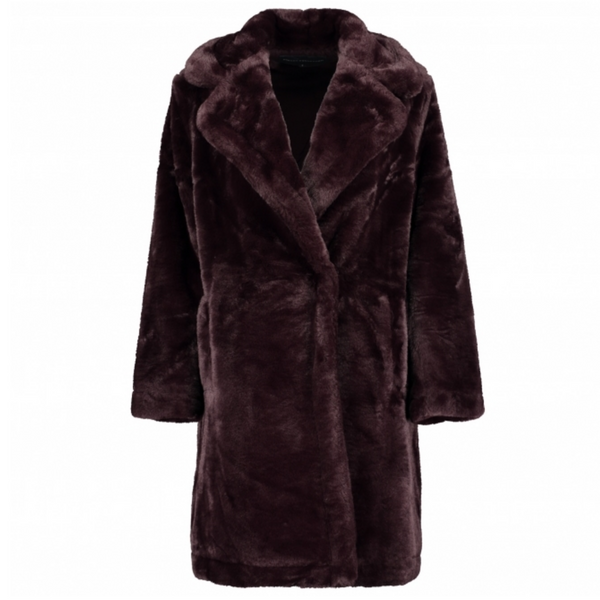 French Connection BANNA LONG FAUX FUR COAT