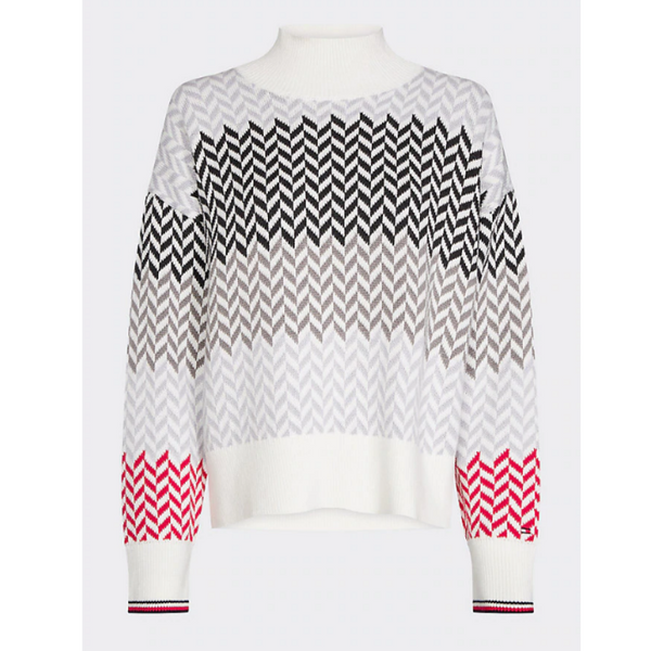 Tommy Hilfiger CHEVRON STRIPE TURTLE NECK JUMPER 25825