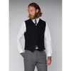 Gibson London Navy Black Mini Check Waistcoat G19220TBW