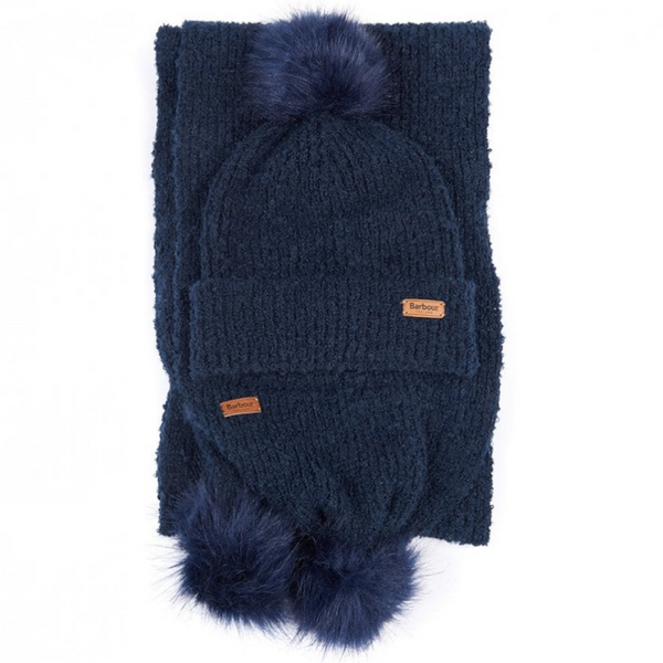 Barbour Boucle Beanie & Scarf Gift Set LGS0024