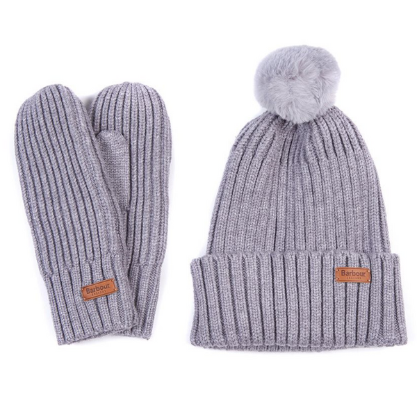 Barbour Whitlaw Beanie and Mitten Gift Set LGS003