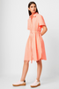 French Connection RUFARA SEERSUCKER NEON GINGHAM DRESS 71NBD