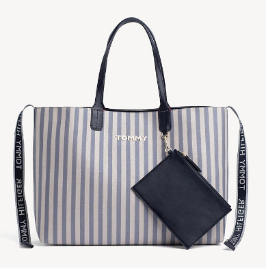 4e4eaed335 Tommy Hilfiger TOMMY ICON GLITTER STRIPE TOTE BAG