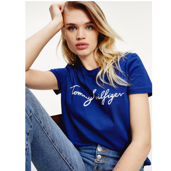 Tommy Hilfiger SIGNATURE LOGO ORGANIC COTTON T-SHIRT 2842
