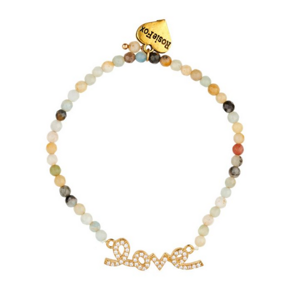Rosie Fox Amazonite Gemstone Love Bracelet 609