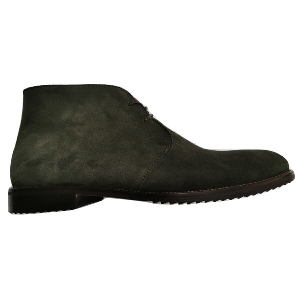 Lacuzzo Italian Leather Suede Chukka  Boot 8536 - Green