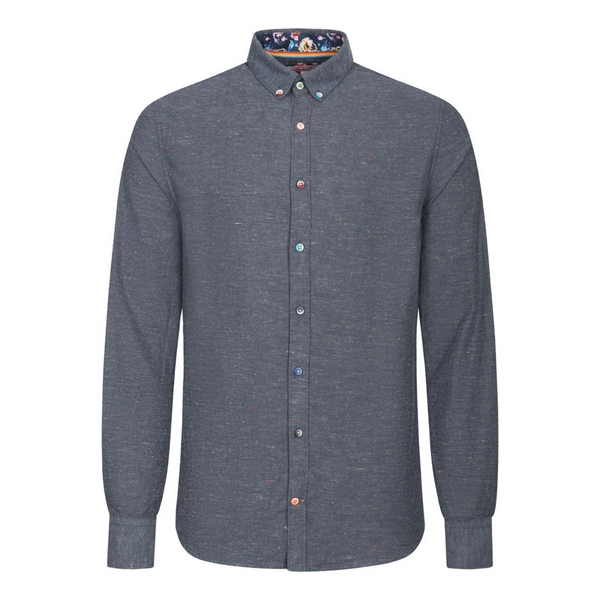 Colours And Sons Flecked Shirt Grey  9220-220