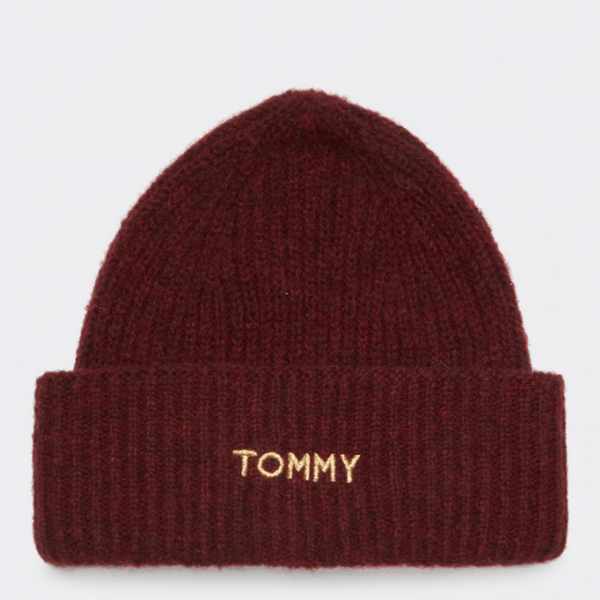 Tommy Hilfiger ALPACA BLEND EMBROIDERY BEANIE 7175