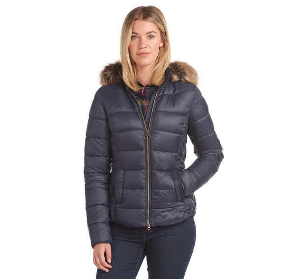 Barbour Irving Quilt Navy LQU1227