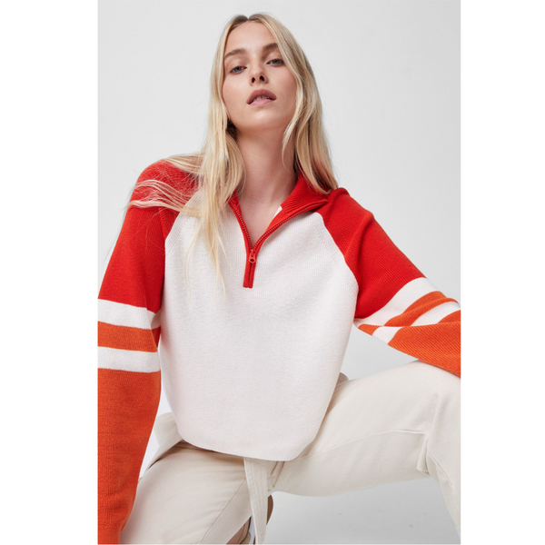 French Connection MARTHA COLOURBLOCK HALF ZIP JUMPER 78QAX