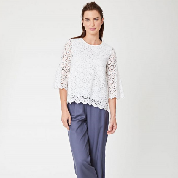 Thought Irvette White Lace Top 3613