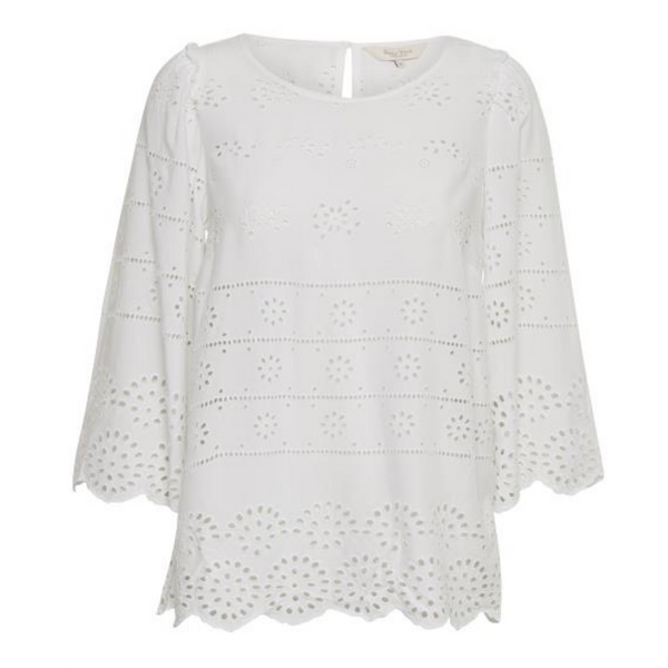 Part Two Lark Lace Blouse in White 3130