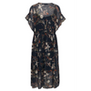 Part Two Floral Leela Dress with Elasticated Waist in Navy 3089