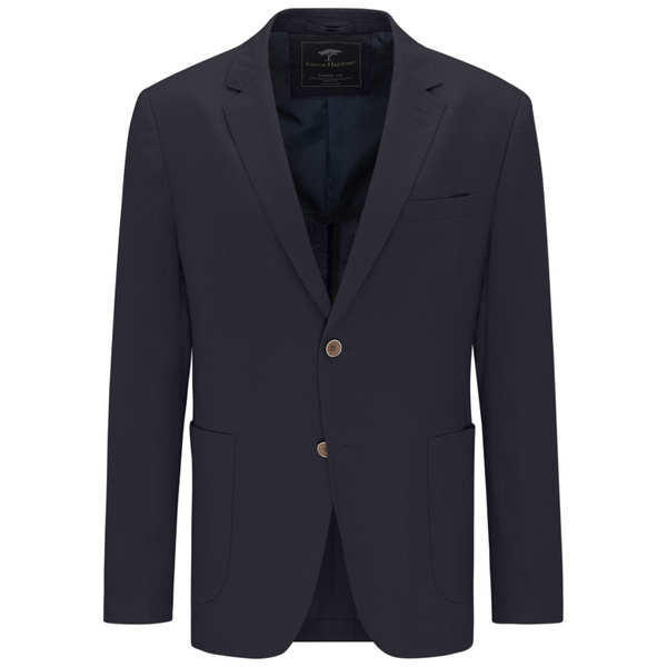 Fynch Hatton 100% Linen Blazer Casual Fit - Dark Navy 11202001