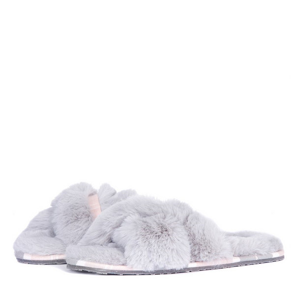 Barbour Lottie Slip On Fur Slipper LSL0008