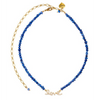 Rosie Fox Cobalt Blue Freshwater Pearl Love Necklace 639