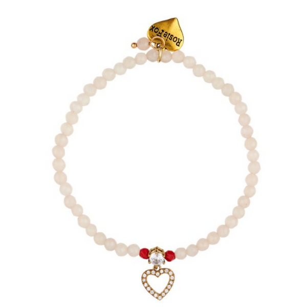 Rosie Fox Ruby Rose Heart Bracelet 601