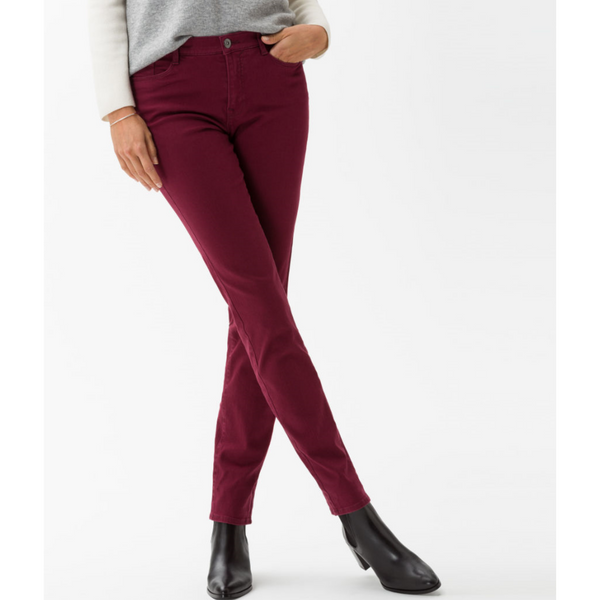 Brax Mary Crystallized Denim in Cranberry 73-6527
