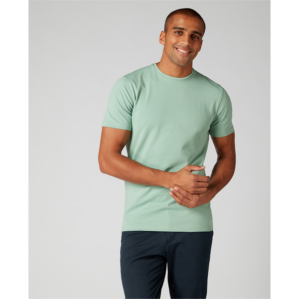 Remus Uomo Short Sleeve Casual T-Shirt Soft and Stretchy Luxurious Feel 53121 - Mint Green
