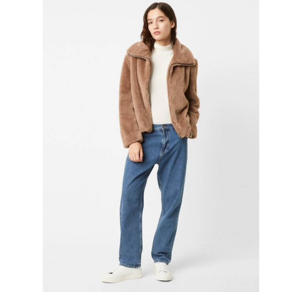 French Connection BUONA FAUX FUR HIGH NECK JACKET 75MBC