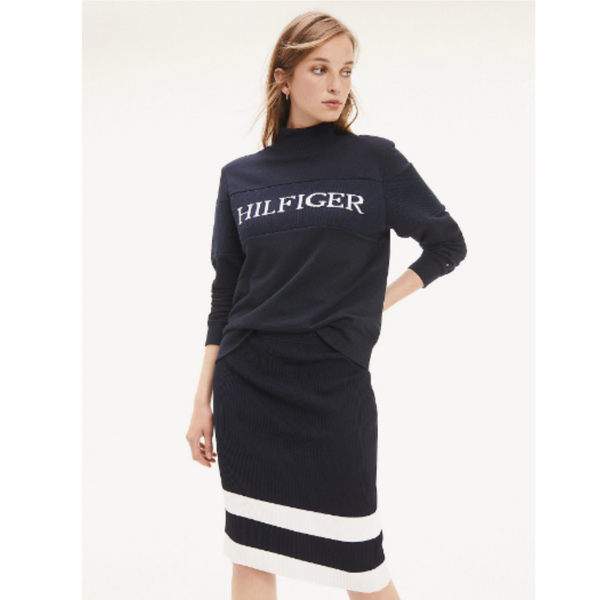 Tommy Hilfiger Laureen Mock Neck Knit 25915