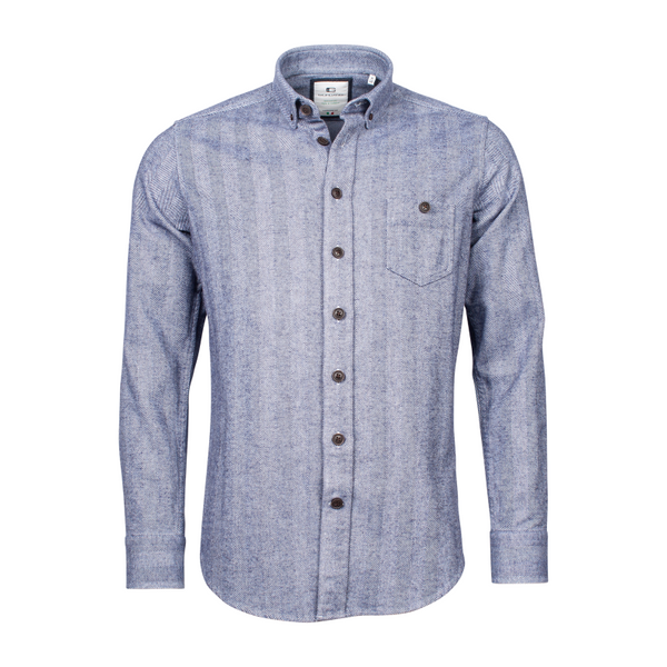 Giordano Three Tone Herringbone button Down Shirt 207867