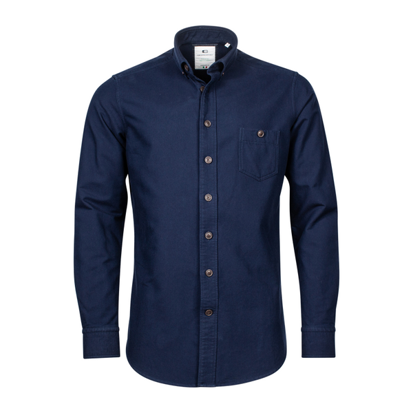 Giordano Lucca Button Down Overshirt Navy 207869