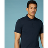 Remus Uomo Men's Tapered Fit Cotton-Stretch Jersey Polo Shirt 58724 - Navy