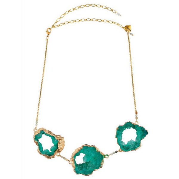 Rosie Fox Amazonite & Agate Crystal Trine Necklace FJN671