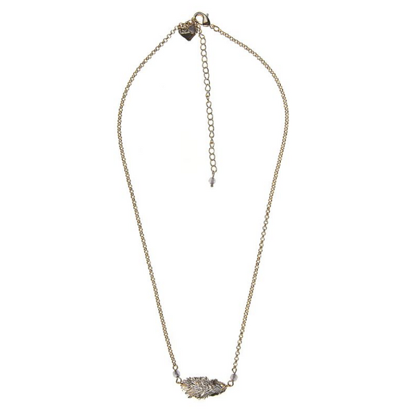 Rosie Fox Dove Lucky Feather Gold Chain Necklace FJN713