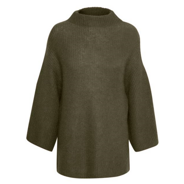 Part Two Melody Mohair Olive Knit 30303404