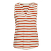 Part Two Orange Stripe Halston Vest 3226