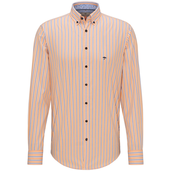 Fynch Hatton Premium Stripe Shirt 1120-6155 Orange/Blue